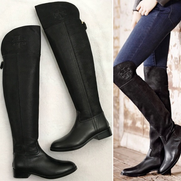 9f6a9d761dc New Tory Burch Simone Over The Knee Black Boots. M 5a54fd1e61ca108ef905602b